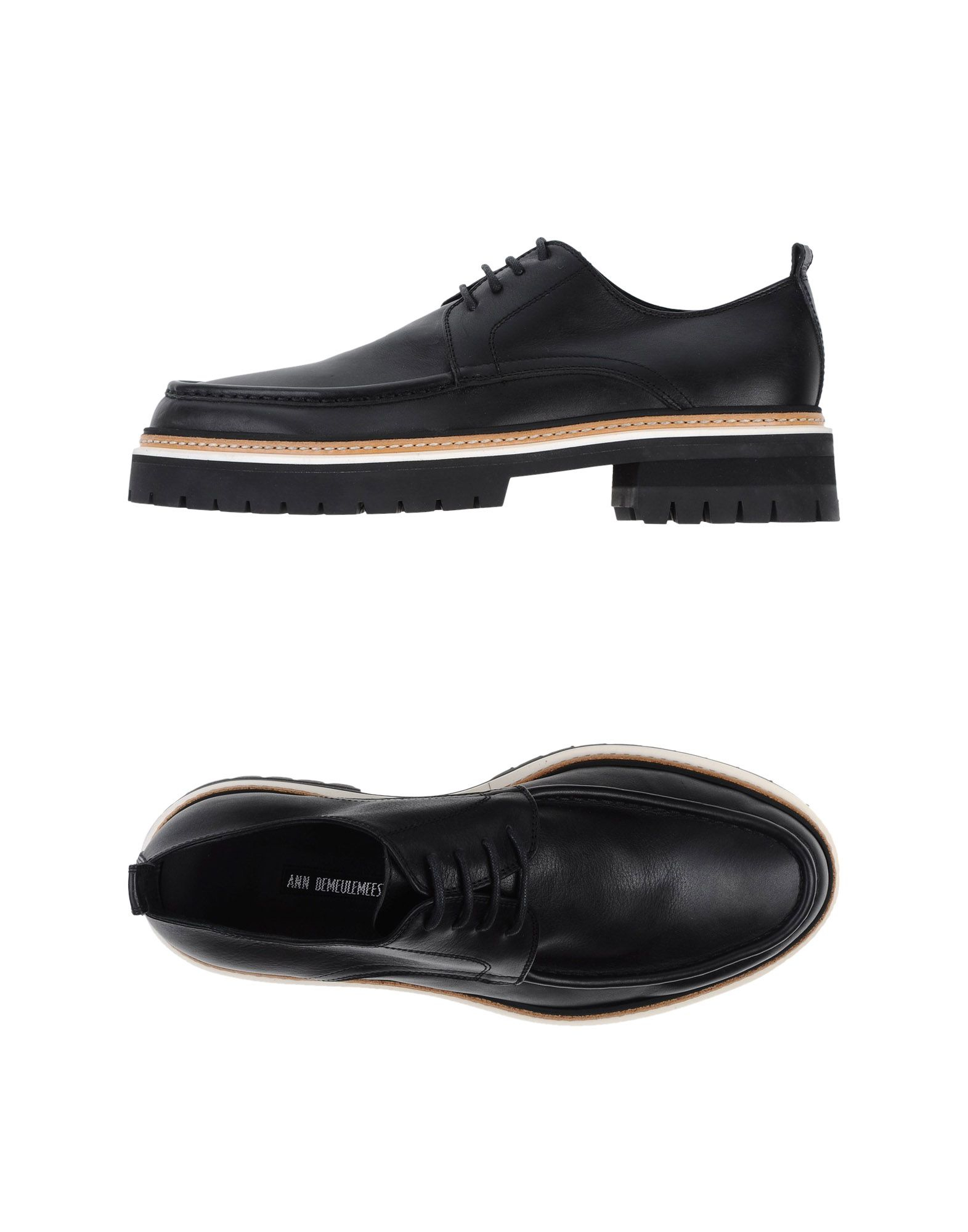 demeulemeester lace up shoes in black for lyst