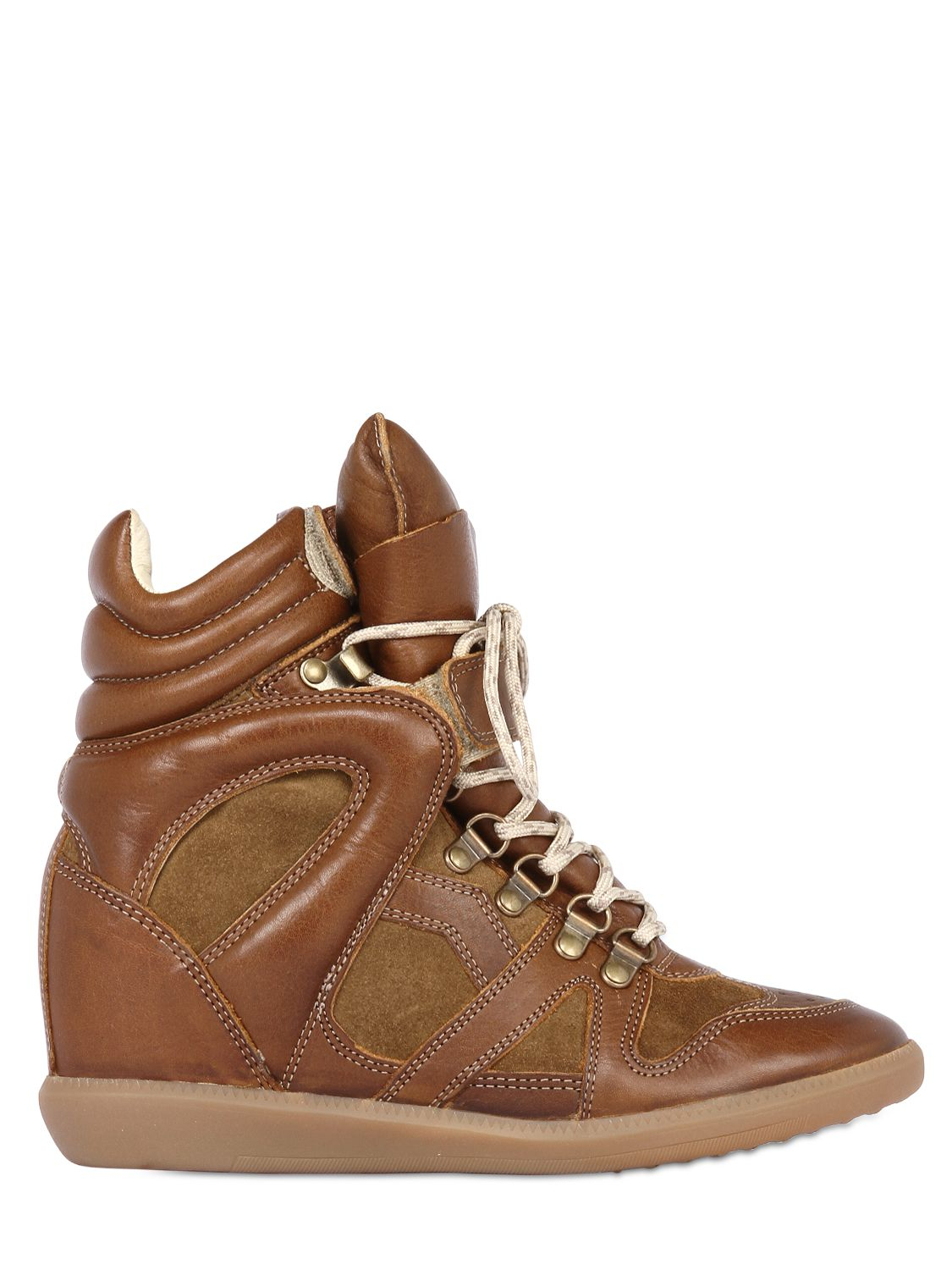 isabel marant 39 buck 39 sneakers in brown lyst. Black Bedroom Furniture Sets. Home Design Ideas
