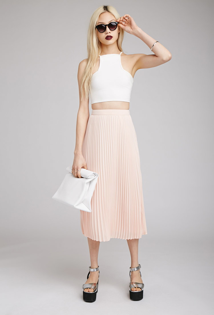 Image result for white pleated skirt forever 21