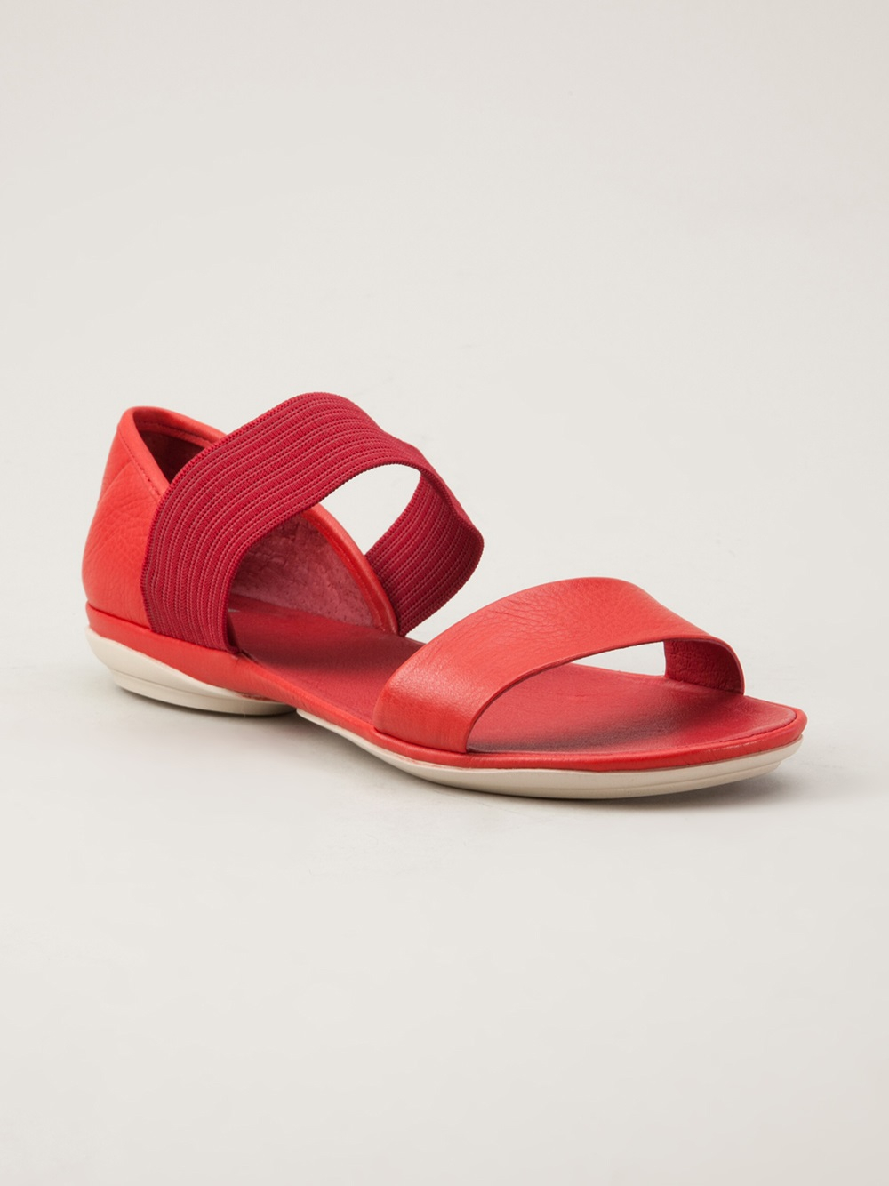 Camper Right Nina Sandal In Red Lyst