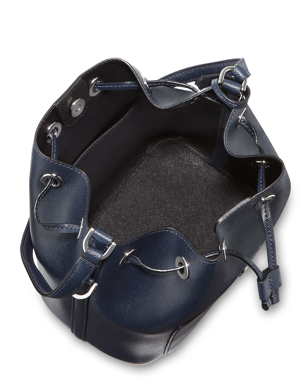 608aaa26dce7 MICHAEL Michael Kors Greenwich Medium Bucket Bag in Blue - Lyst