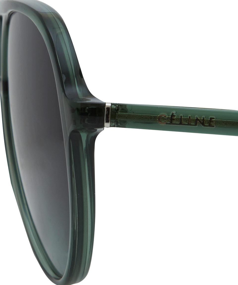 0b876111399 Lyst - Céline Green Acetate Aviator Sunglasses in Green