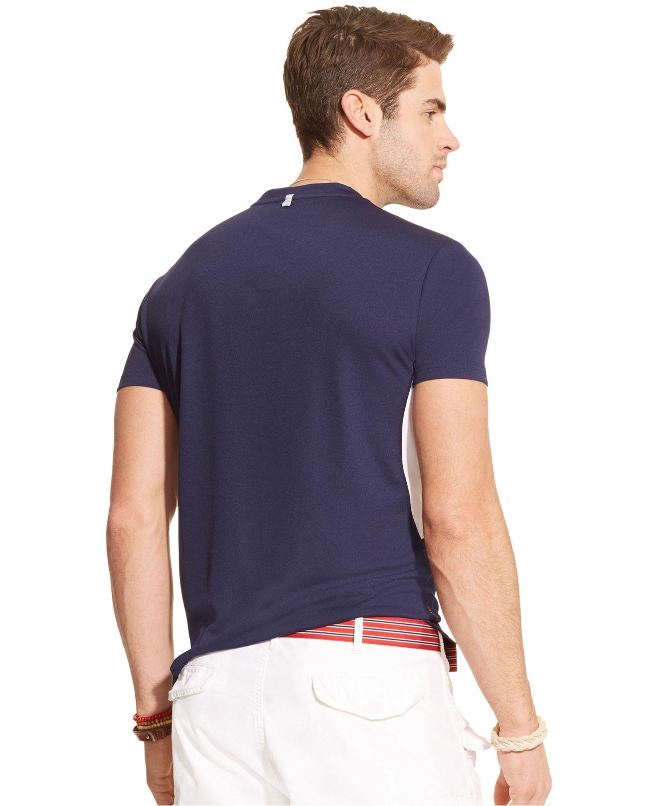 Lyst Polo Ralph Lauren Performance Jersey Crewneck T Shirt In Blue