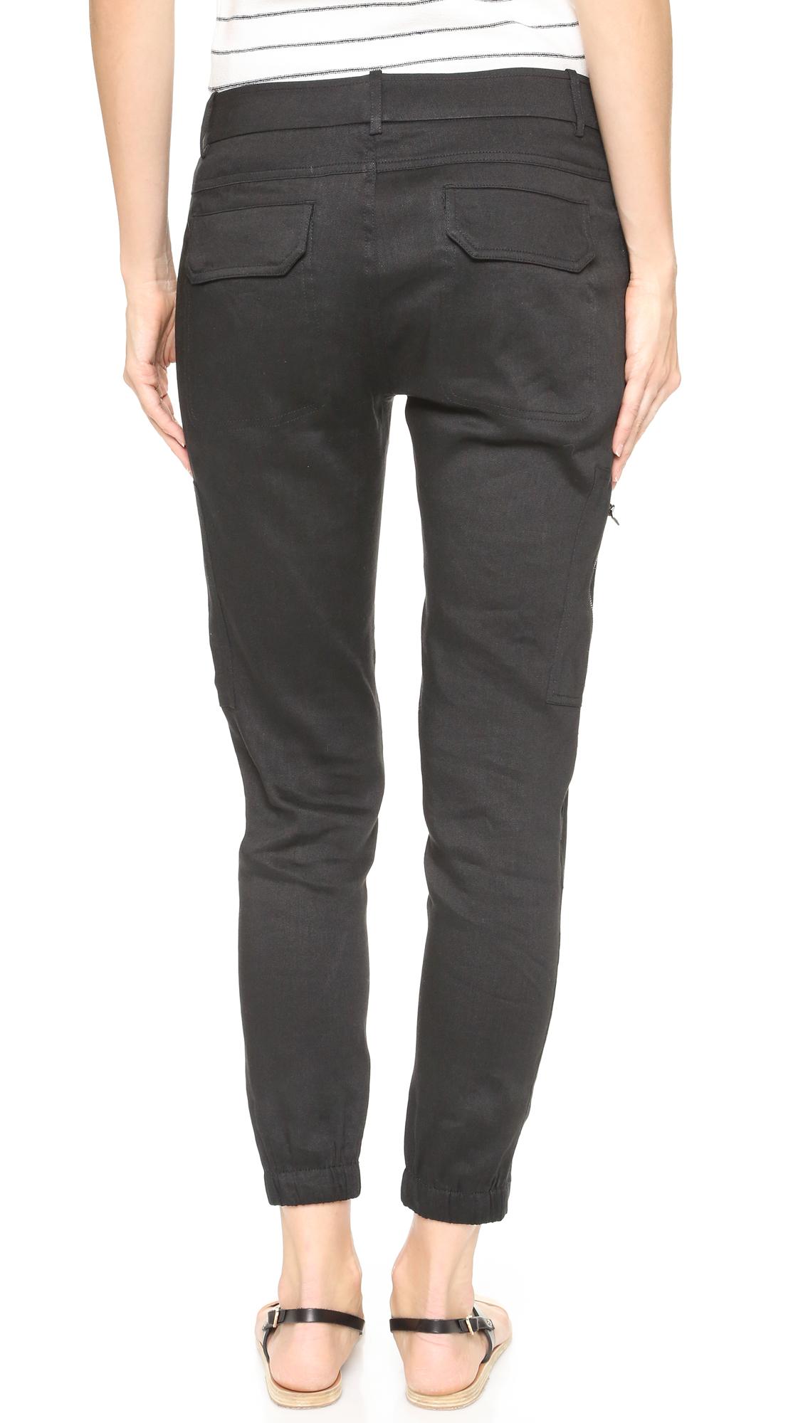 Elegant Allen Allen Linen Long Cargo Pants In White  Lyst