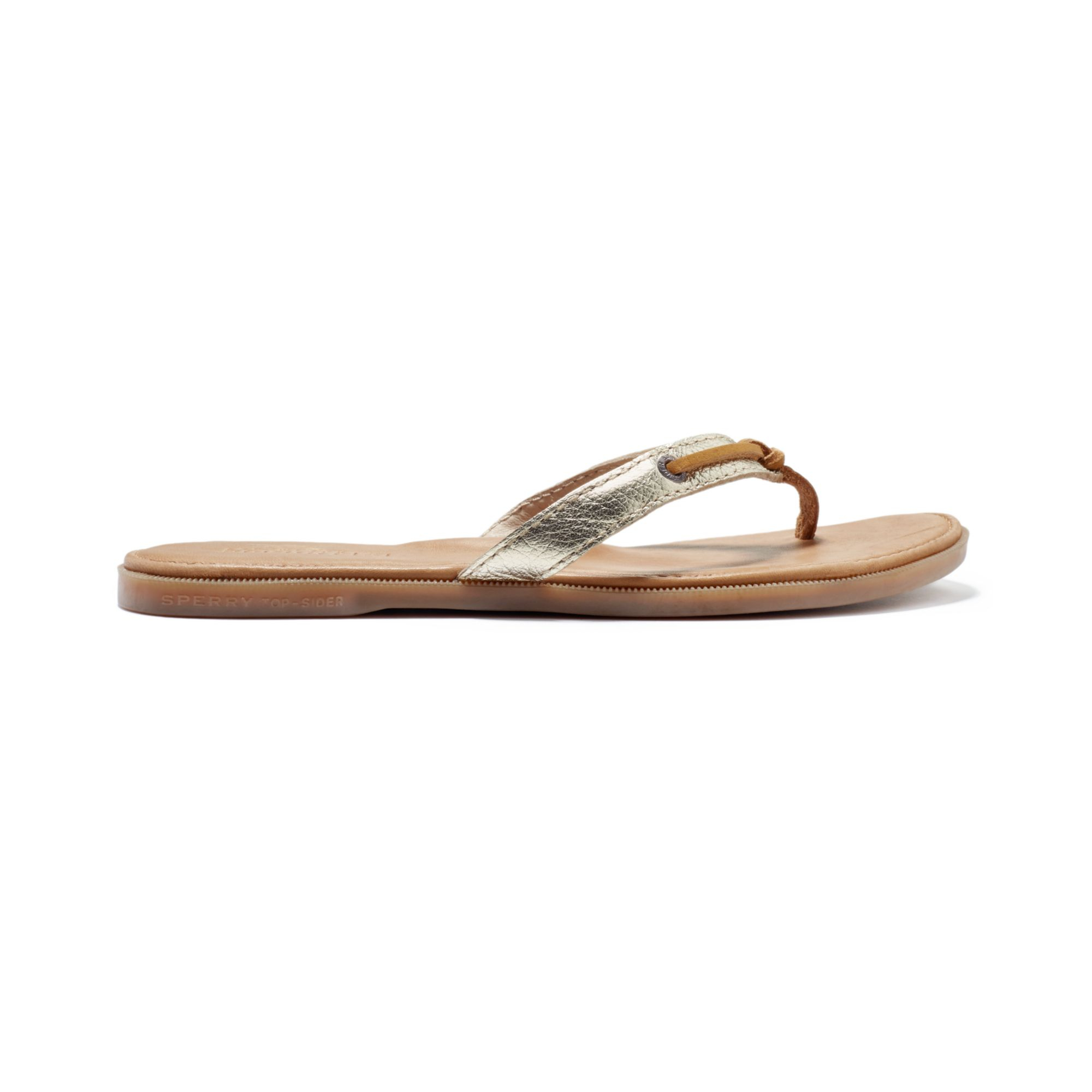 Sperry Top-Sider Sperry Womens Calla Flip Flops In Gold -6984