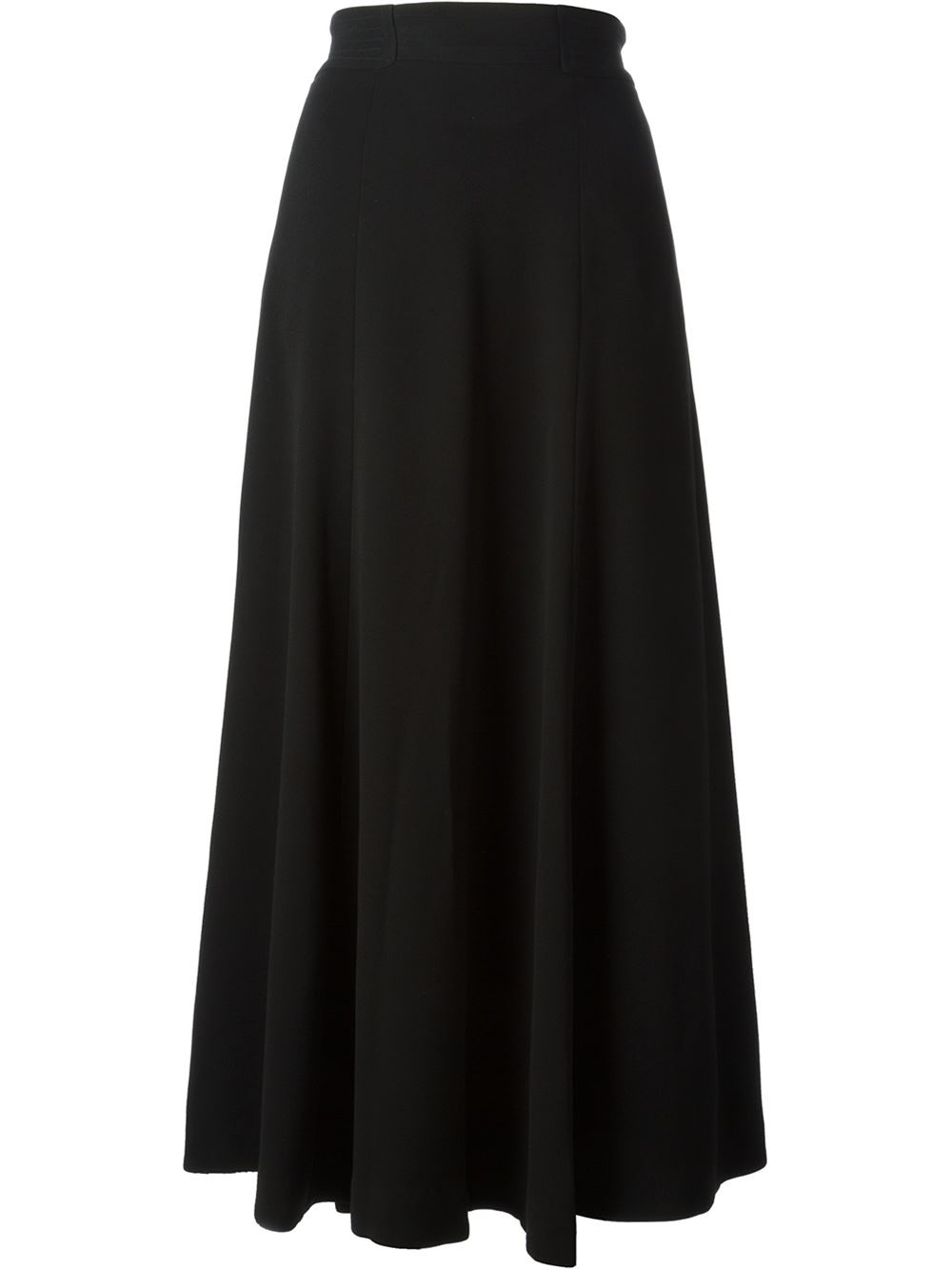 Tory burch Long A-Line Skirt in Black | Lyst
