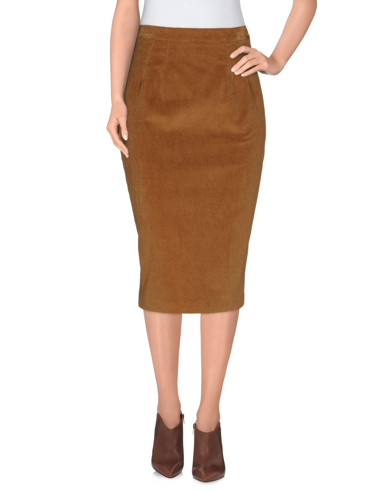 dolce gabbana knee length skirt in khaki lyst