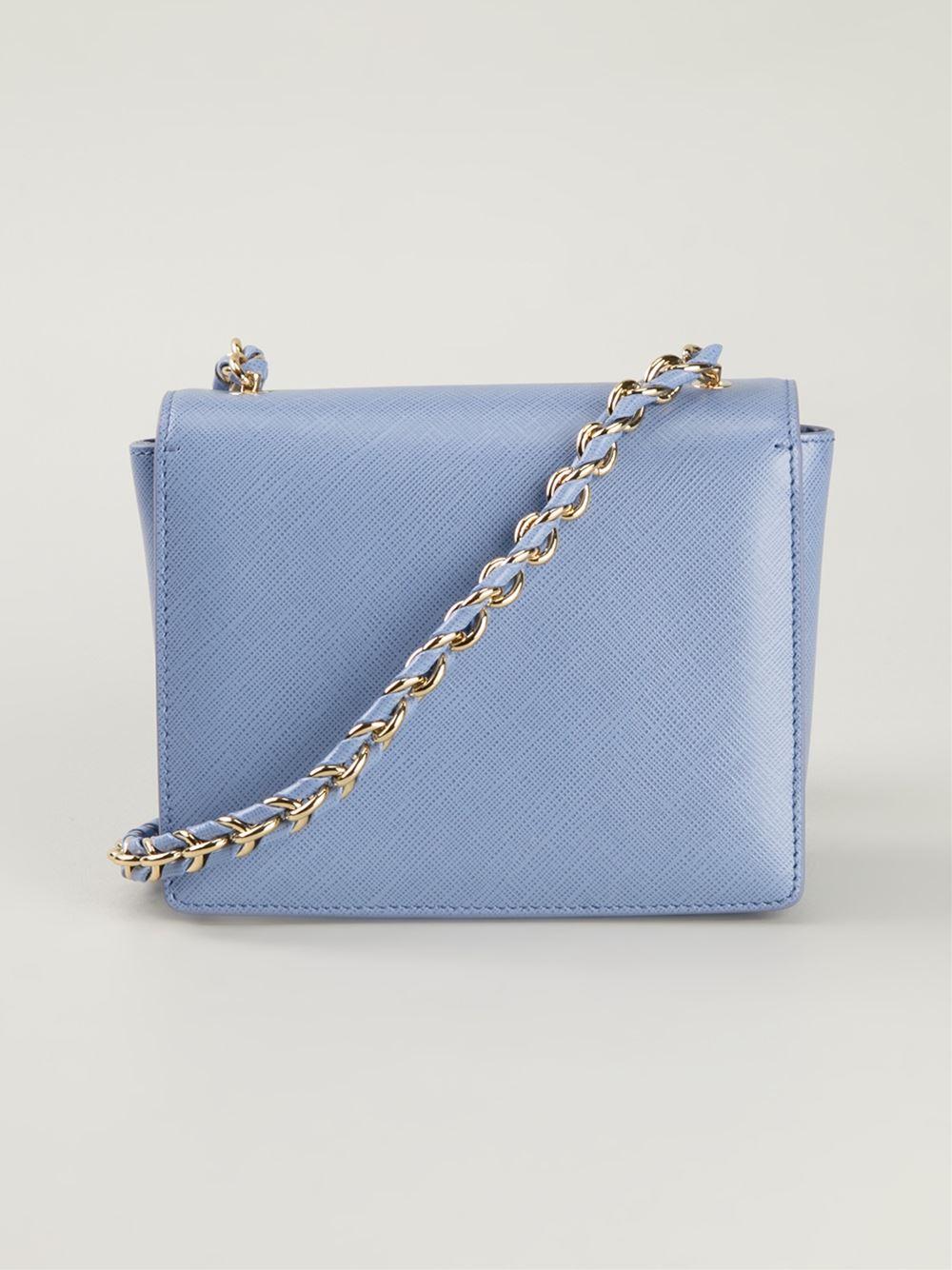 Ferragamo 'Ginny' Crossbody Bag in Blue