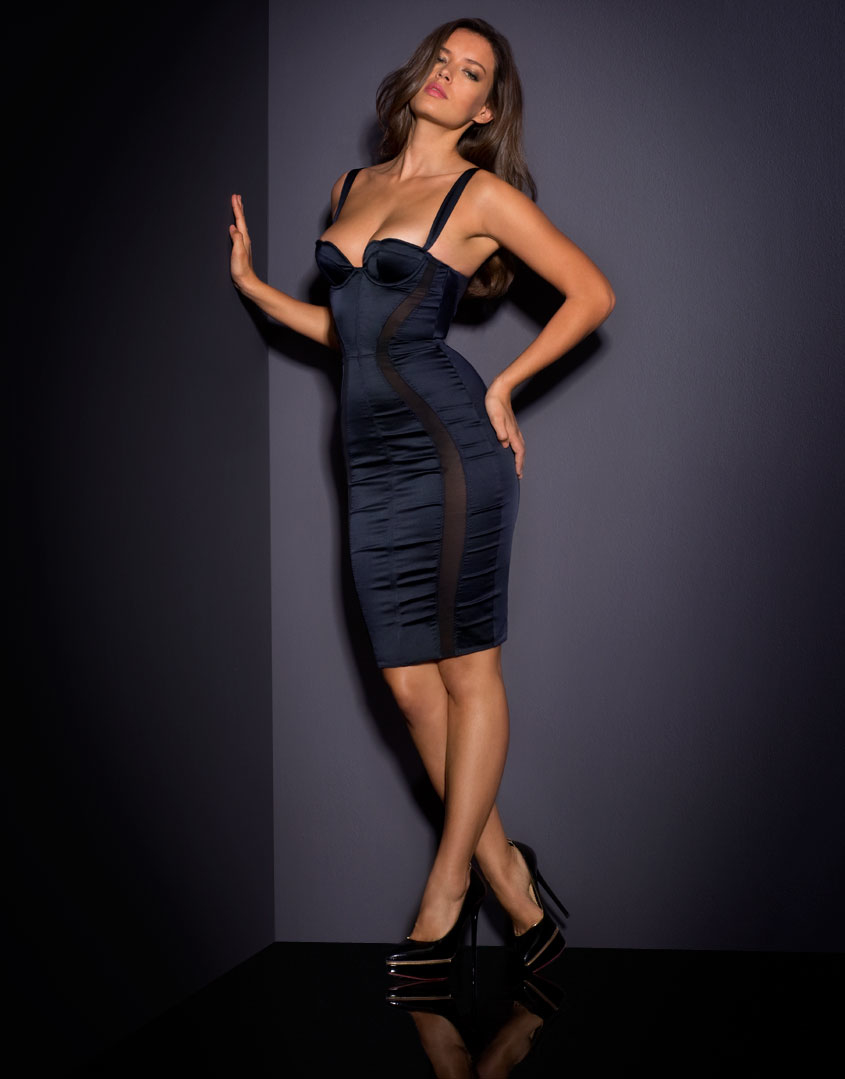 e90fca36eb Agent provocateur brandi dress black in black lyst jpg 845x1079 Agent  provocateur dress