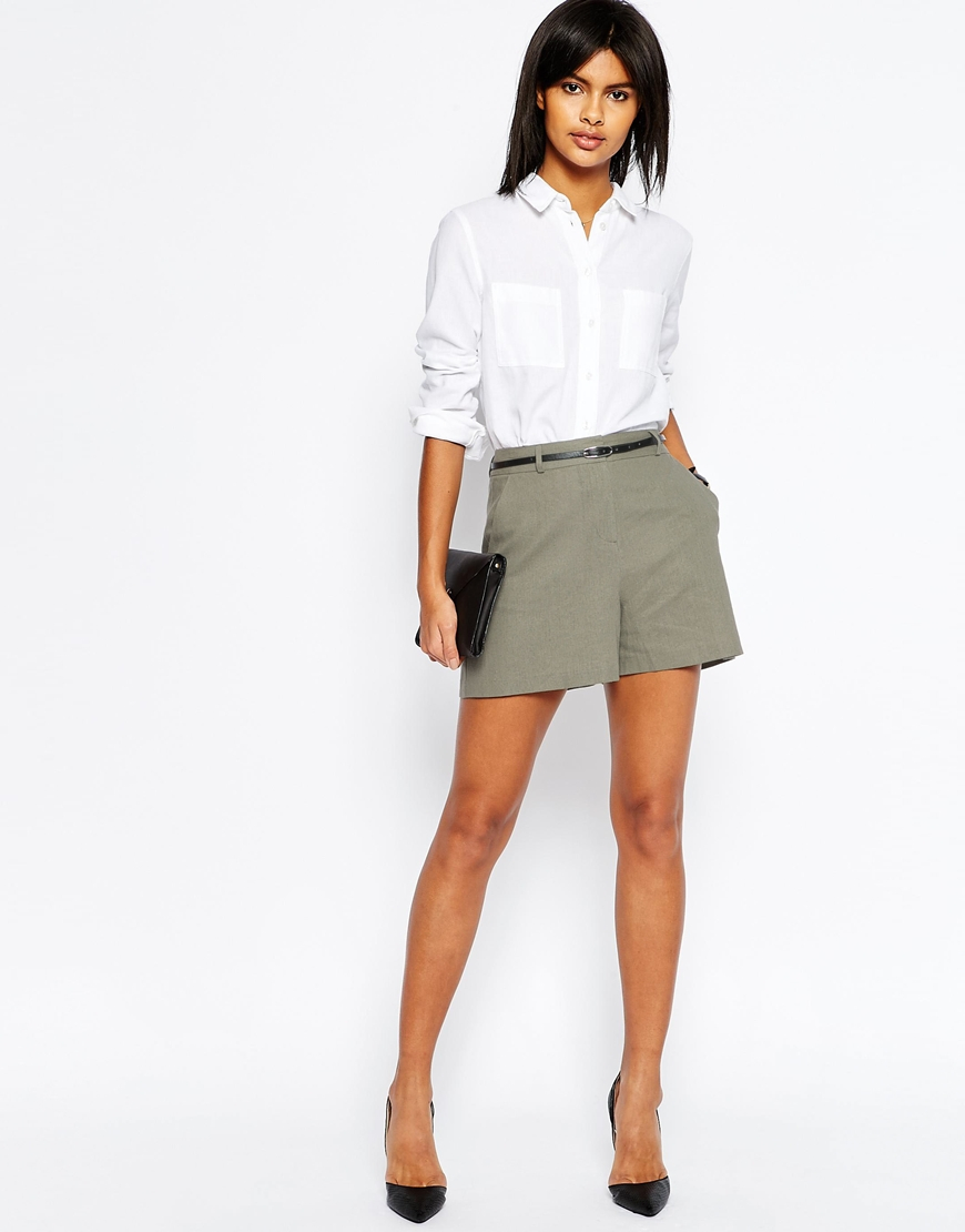 It's shorts season! Express has the women's denim, soft & high waisted shorts you can wear in the warmer weather. Pair these with a One Eleven t shirt for a casual look, or dress .
