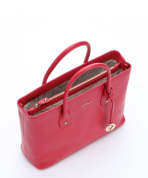 Furla Ruby Red Leather Medium 'josi' Tote in Red   Lyst