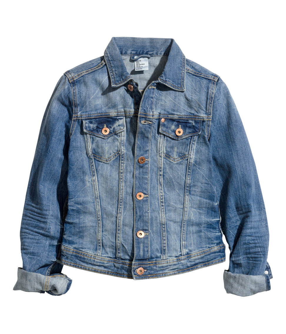Hu0026m Denim Jacket in Blue | Lyst