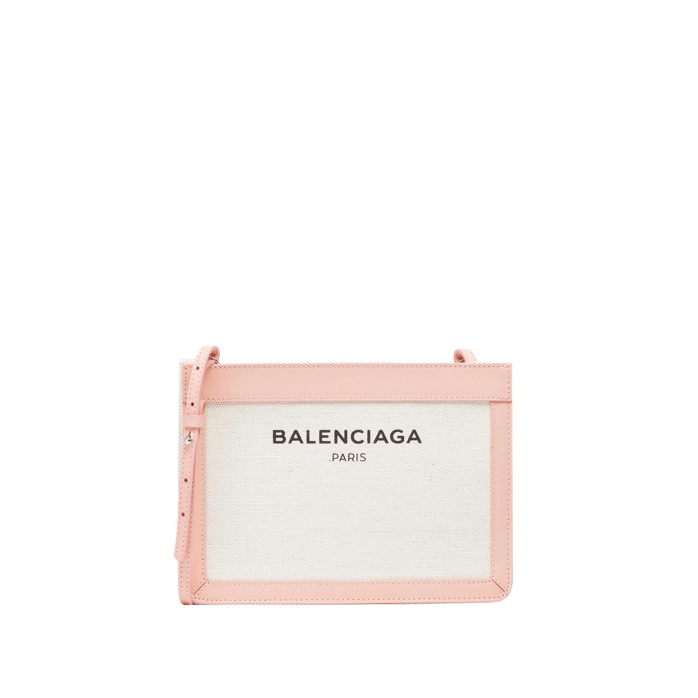 Pochette Soirée Beige Rosé : Balenciaga navy pochette s in beige natural rose