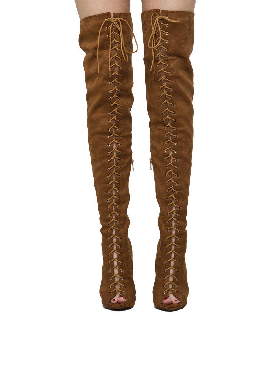black label epiphany lace up thigh high boots