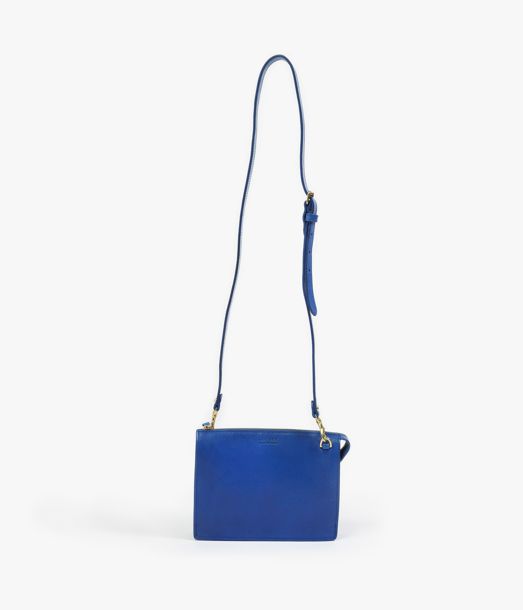 Lotuff Leather Tripp Bag In Blue Lyst