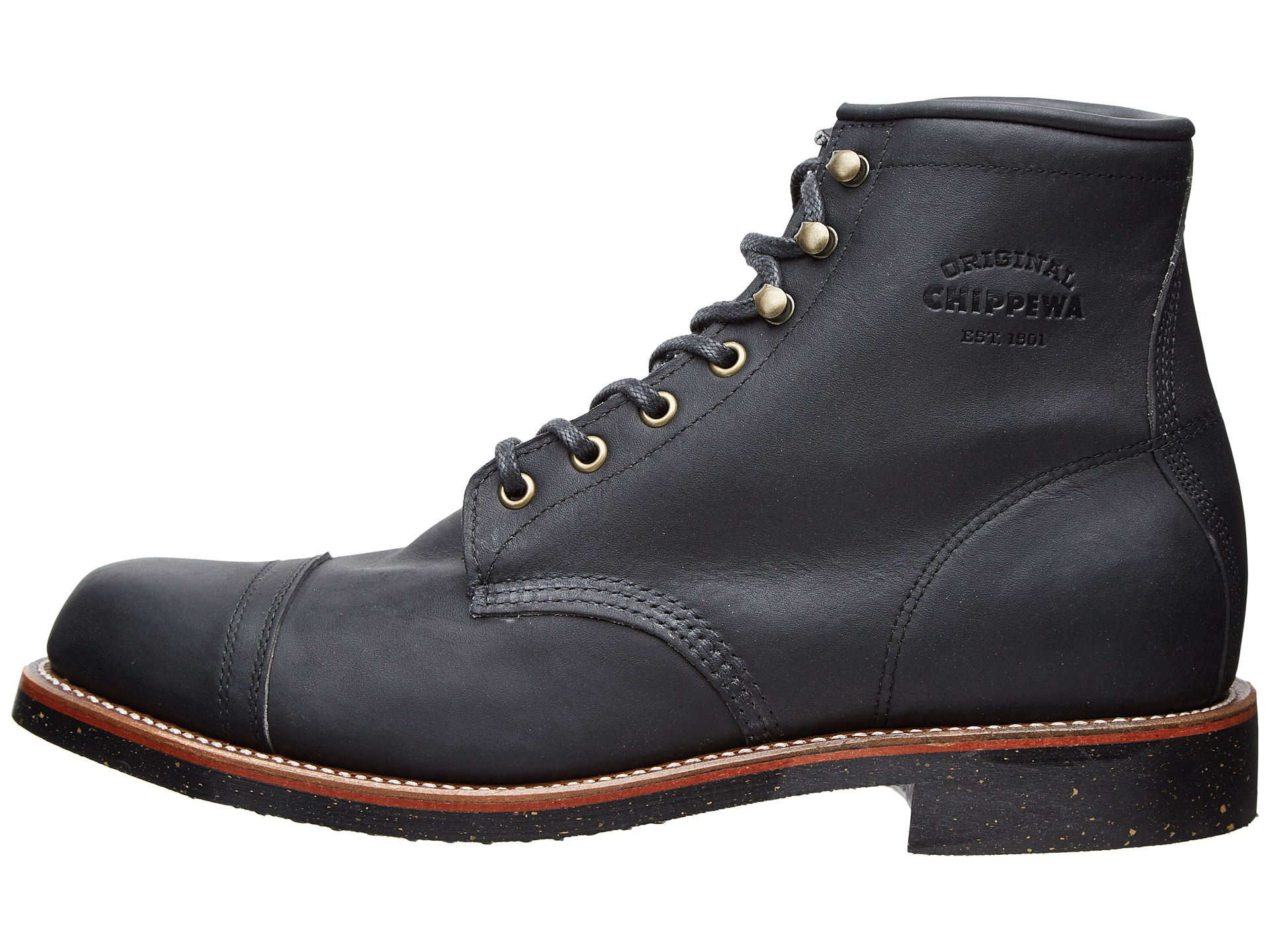 chippewa 6 quot homestead boot in black for lyst