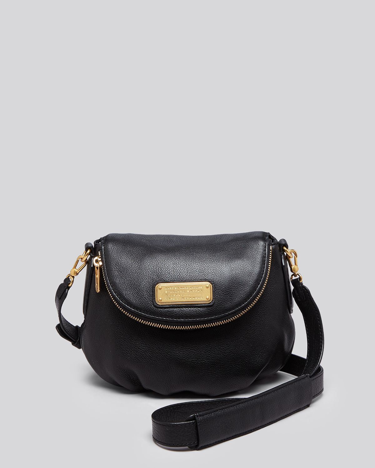 marc by marc jacobs crossbody new q mini natasha in black lyst. Black Bedroom Furniture Sets. Home Design Ideas