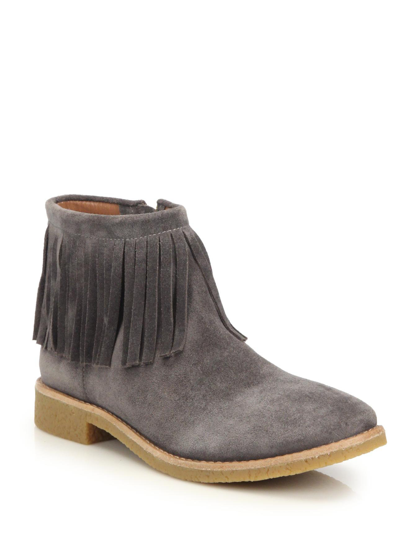 kate spade new york betsie fringed suede ankle boots