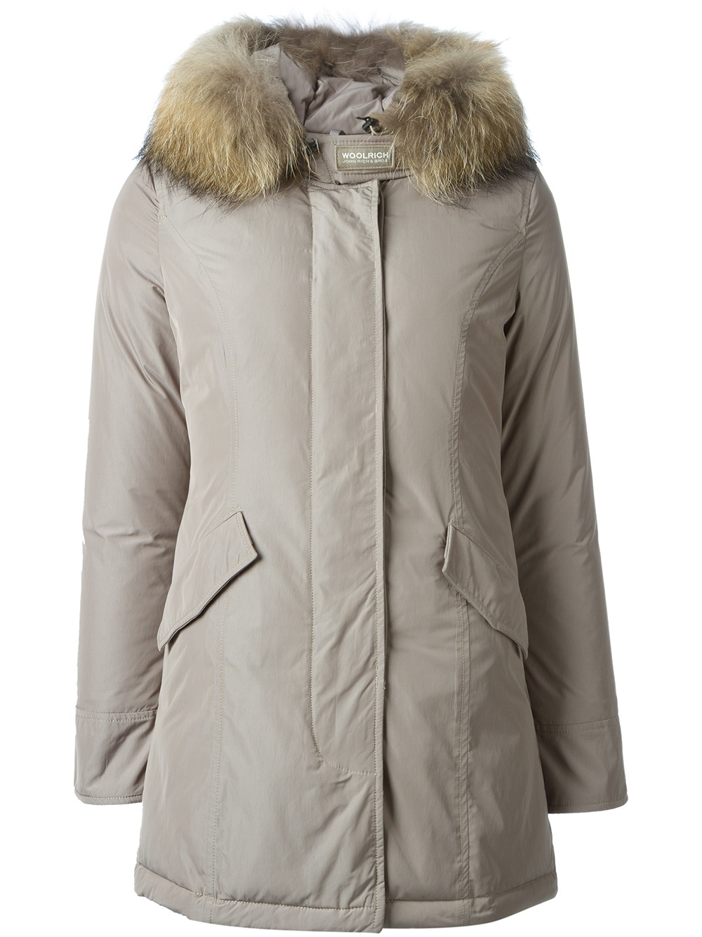 lyst woolrich brown luxury arctic parka in gray. Black Bedroom Furniture Sets. Home Design Ideas