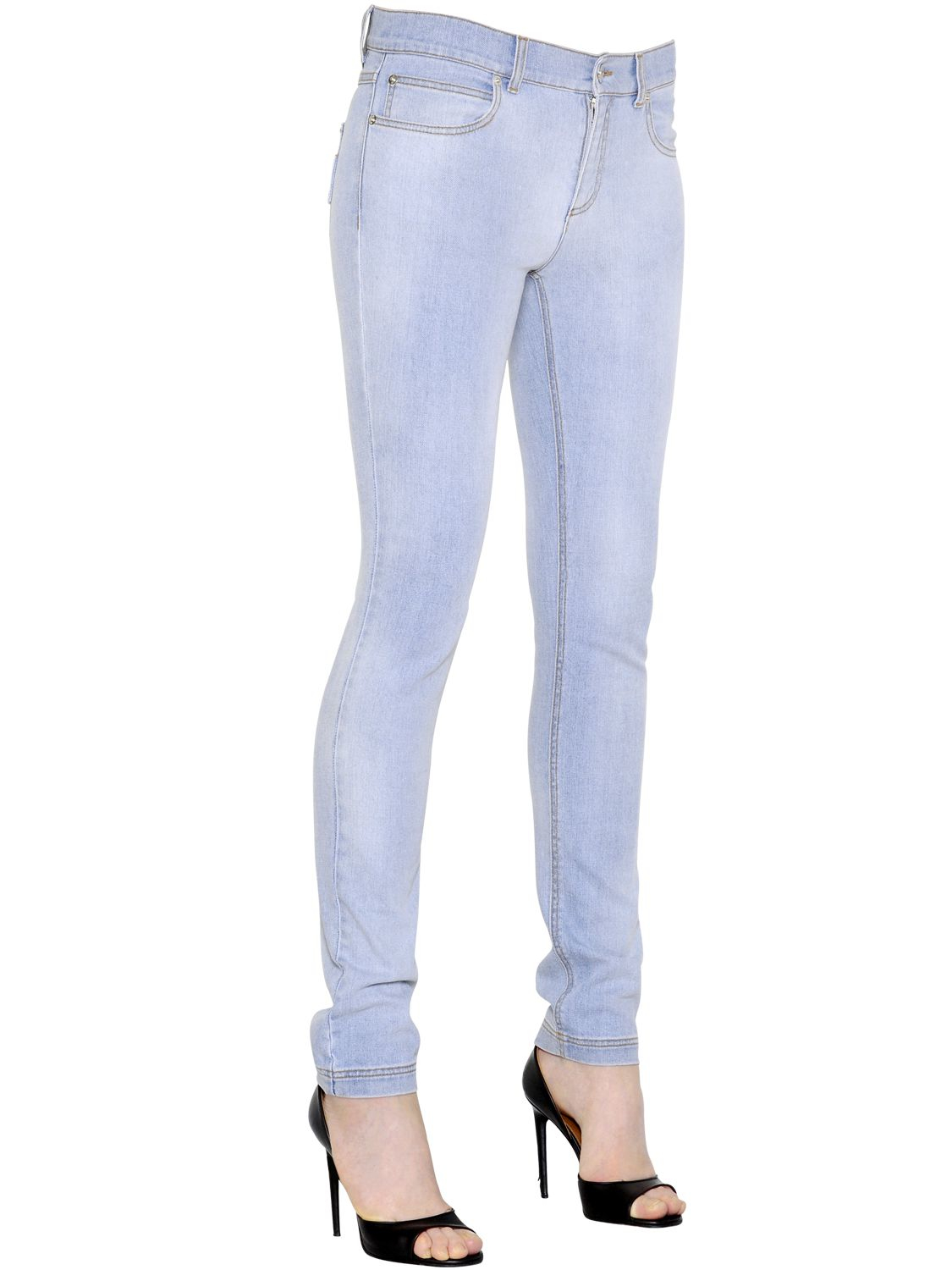 9bce3742 Lyst - Givenchy Washed Stretch Cotton Denim Jeans in Blue