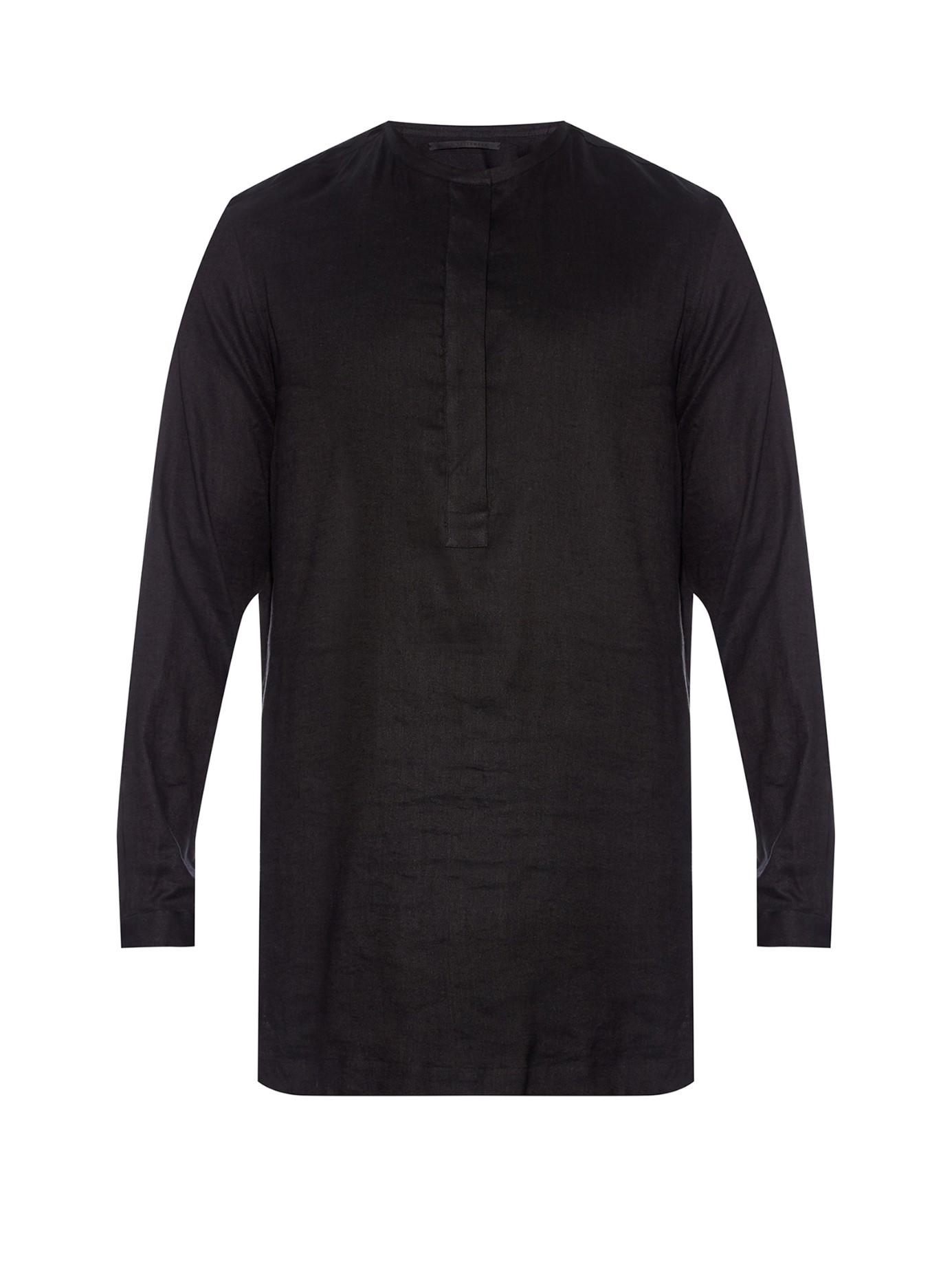 Lyst Haider Ackermann Ekumuru Collarless Linen And Silk