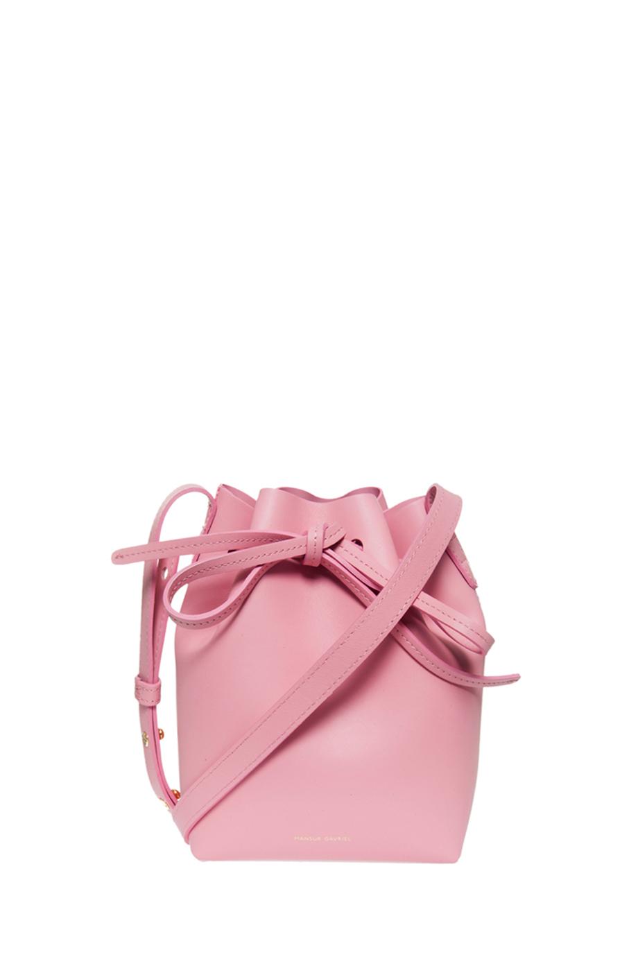 Lyst - Mansur Gavriel Mini Leather Bucket Bag in Pink