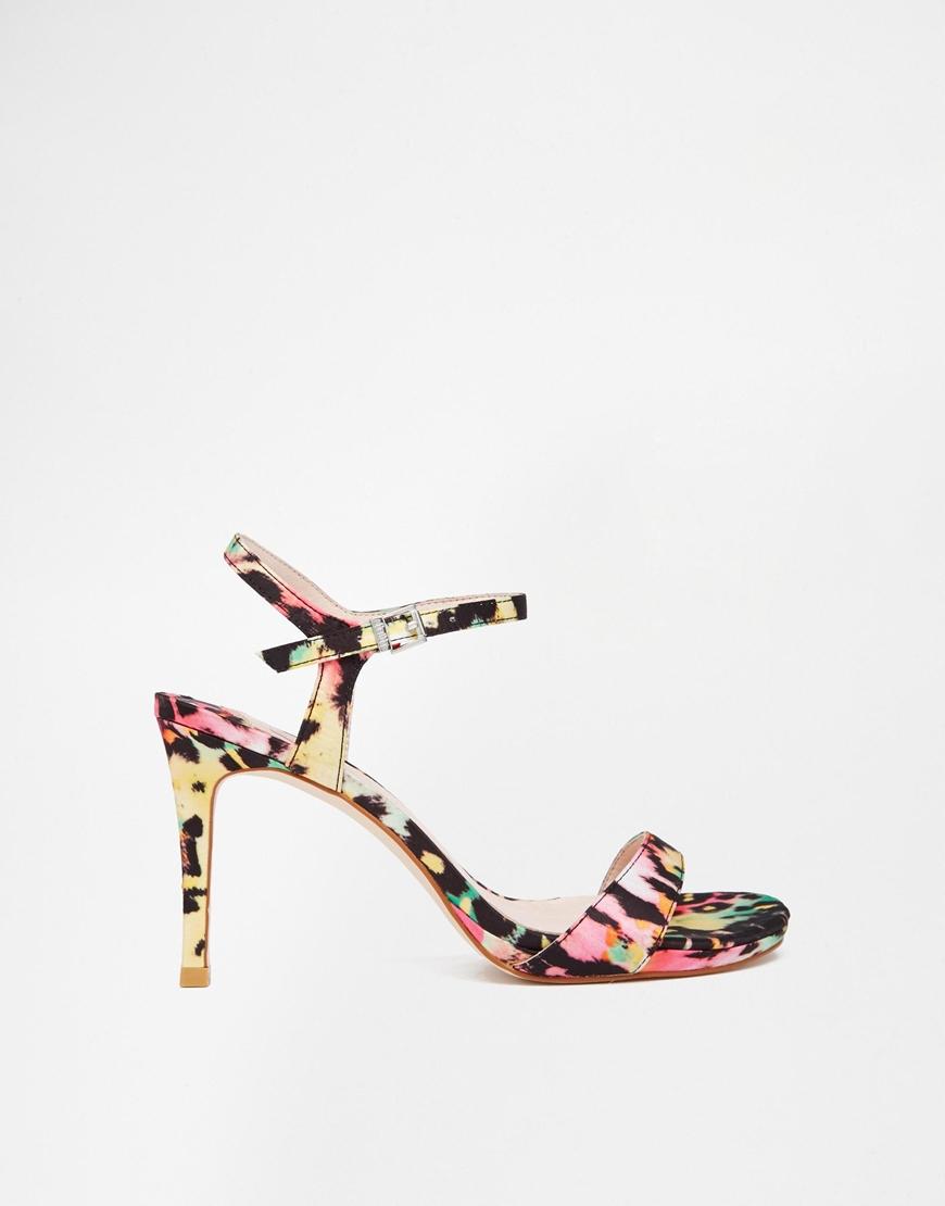 bc16ddae9db Faith Liberty Multi Leopard Print Heeled Sandals - Lyst