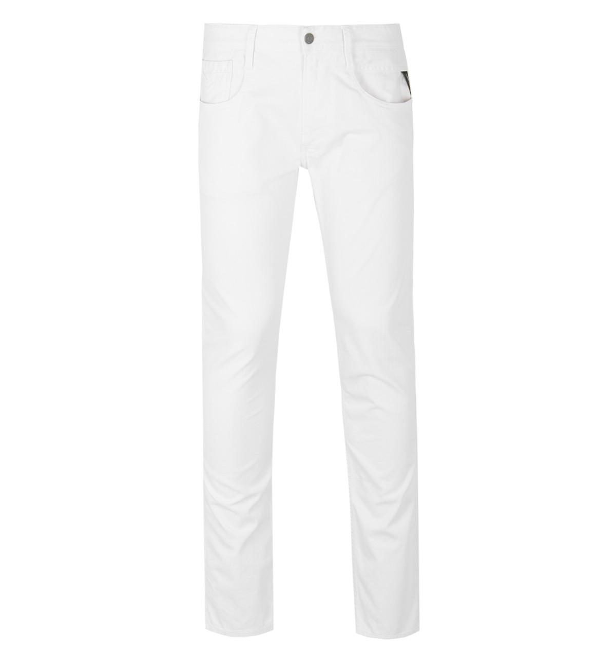 ea16040f873a82 Replay Anbass White Slim Fit Jeans in White for Men - Lyst
