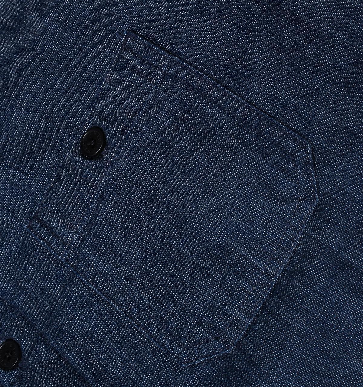 Edwin Blue Denim Labour Four Pocket Padded Overshirt