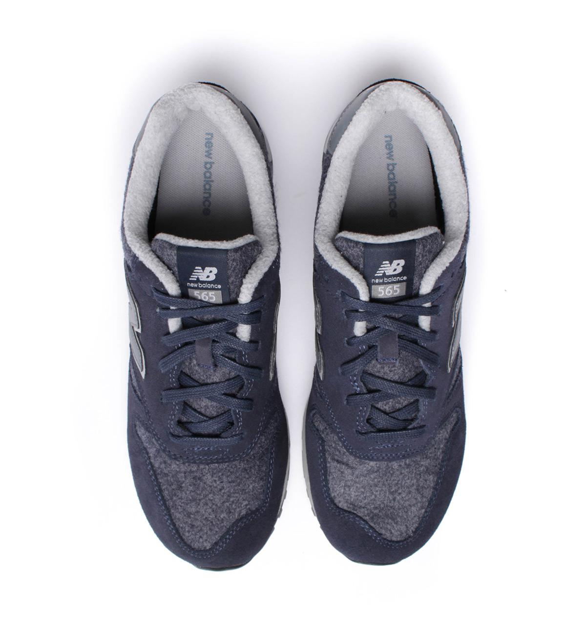 New Balance 565 Wool Pack Charcoal & Navy Trainers in Blue for Men ...