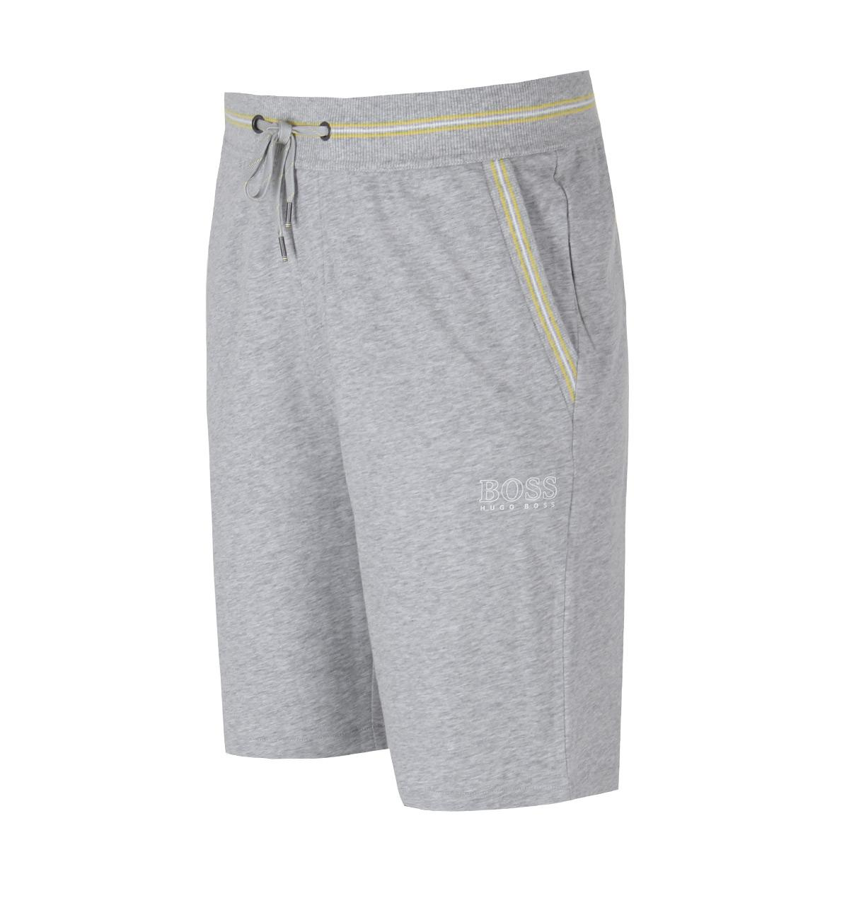 Lyst - Boss Black Grey Marl Authentic Sweat Shorts in Gray for Men d82437c786