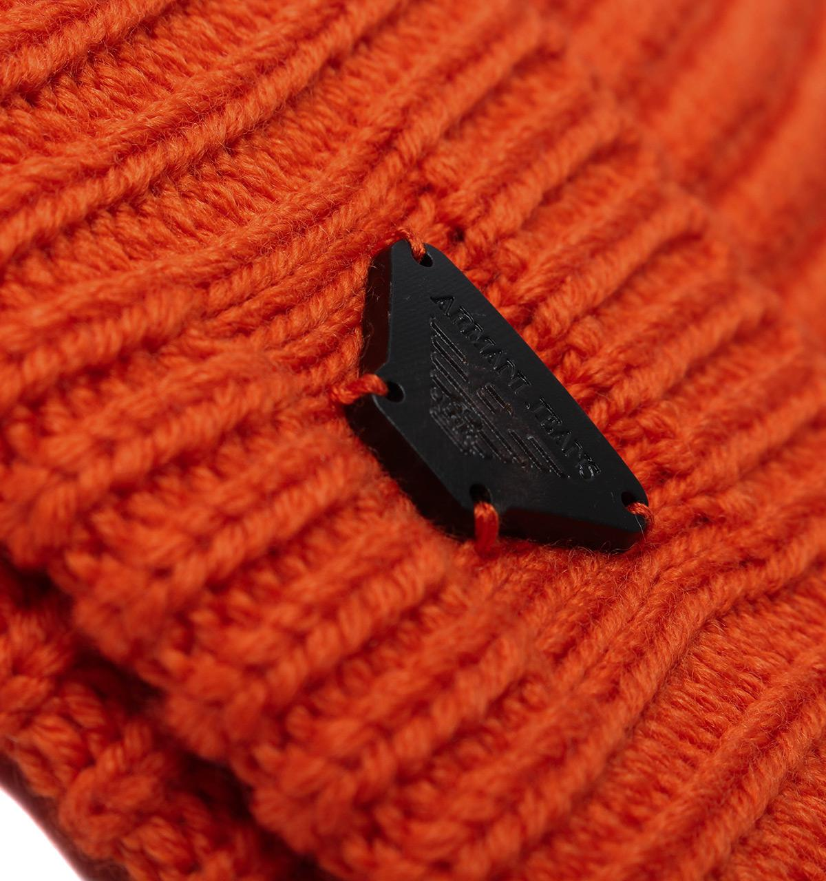 c2f42ded04beac Armani Jeans - Orange Woollen Rib Knit Beanie Hat for Men - Lyst. View  fullscreen