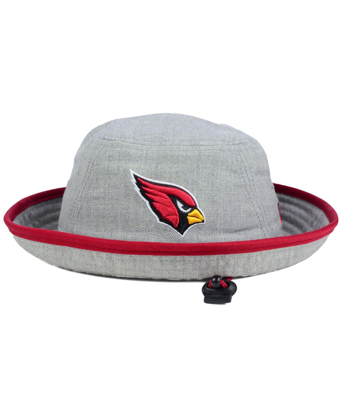 e02a7a94 KTZ Arizona Cardinals Nfl Heather Gray Bucket Hat for men