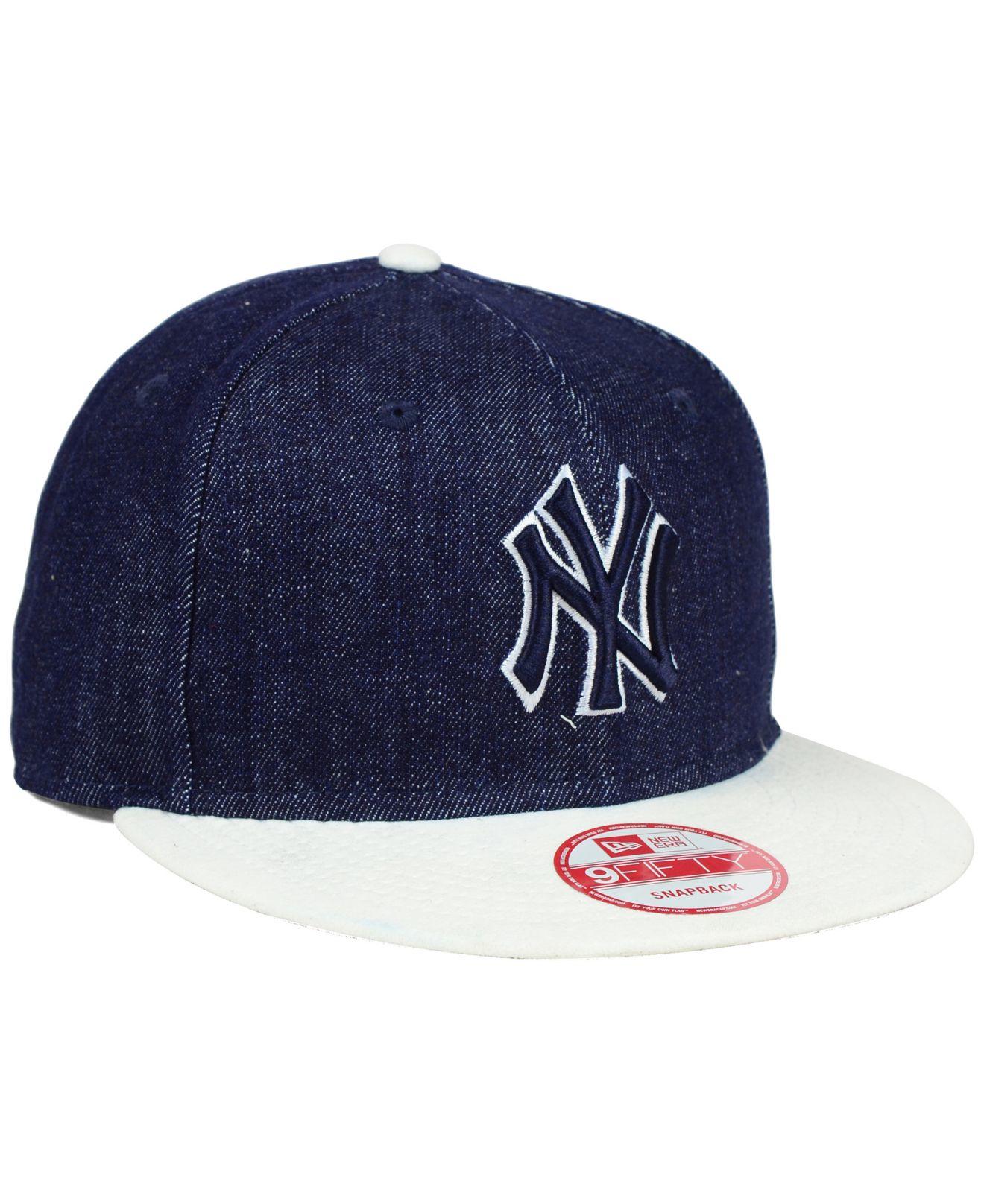 best website a1949 e0c00 ... new zealand lyst ktz new york yankees denim suede 9fifty snapback cap  in blue 70fb4 6ab8f promo code 2016 mlb ...