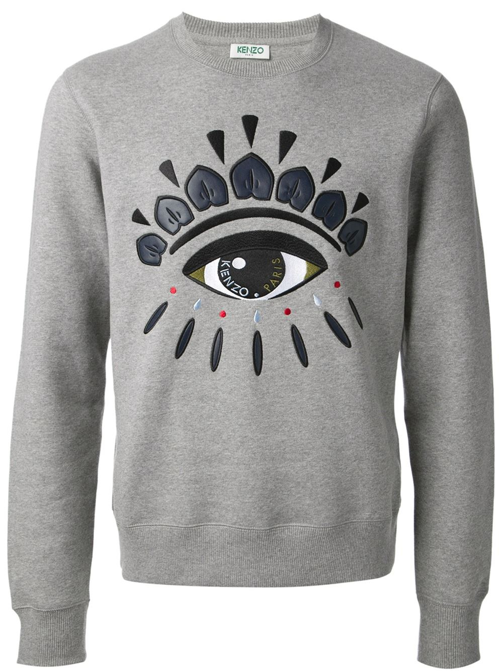 77c59b616 KENZO Embroidered Eye Sweatshirt in Gray for Men - Lyst