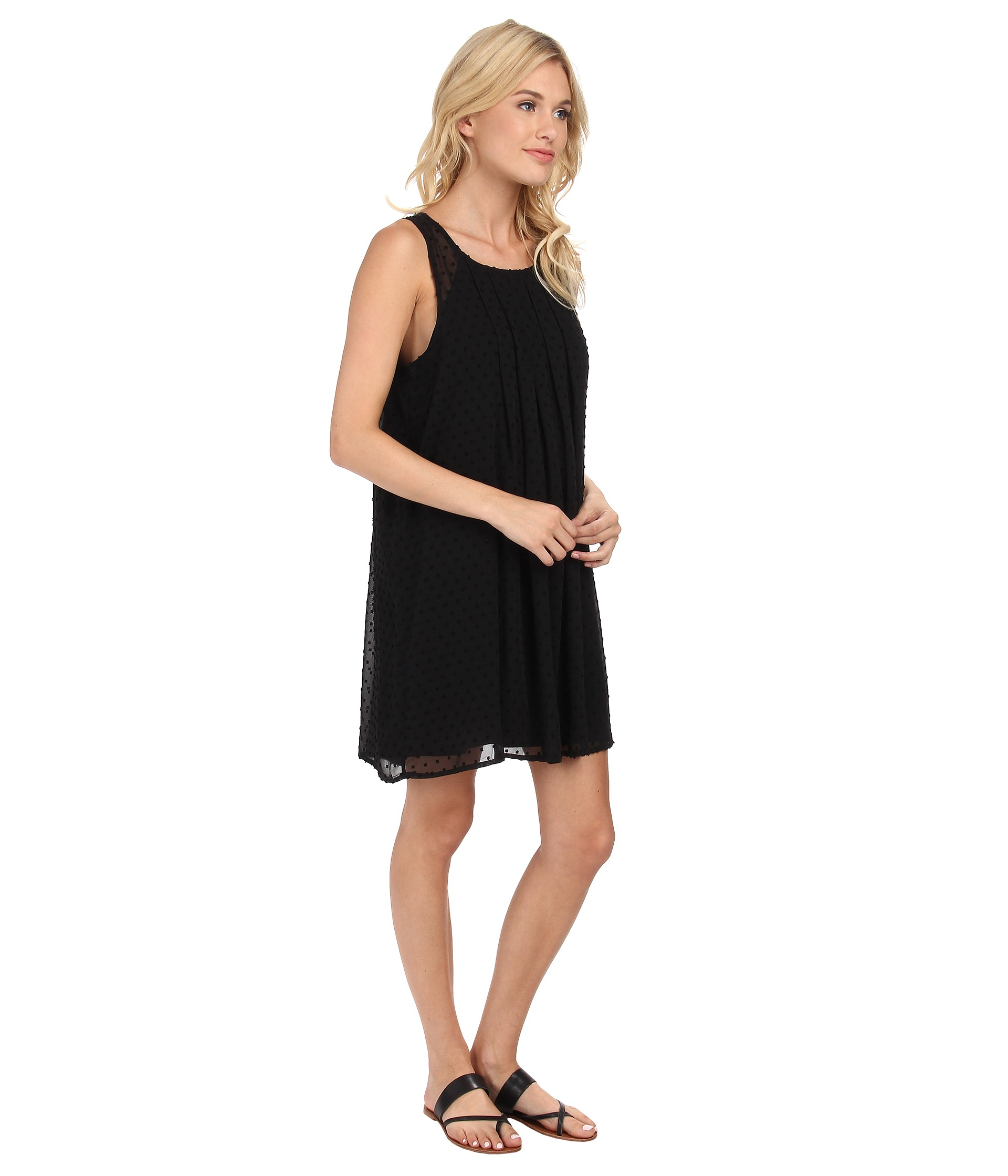 Lyst Sam Edelman Dress W Pleat Detail In Black