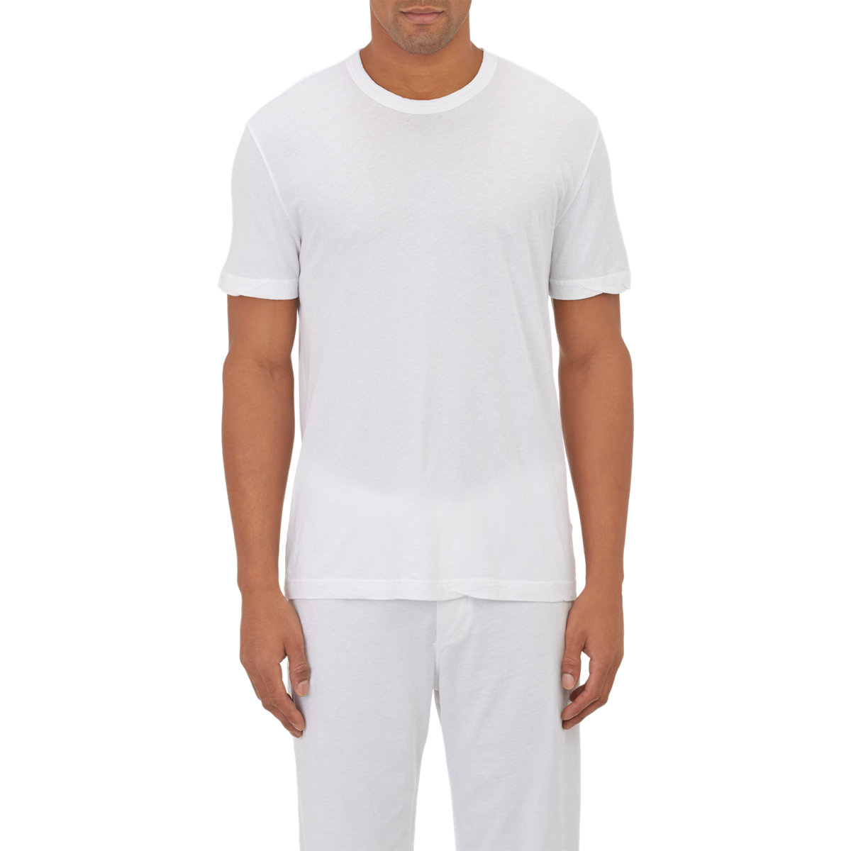 James perse basic crewneck t shirt in white for men lyst for James perse t shirts sale