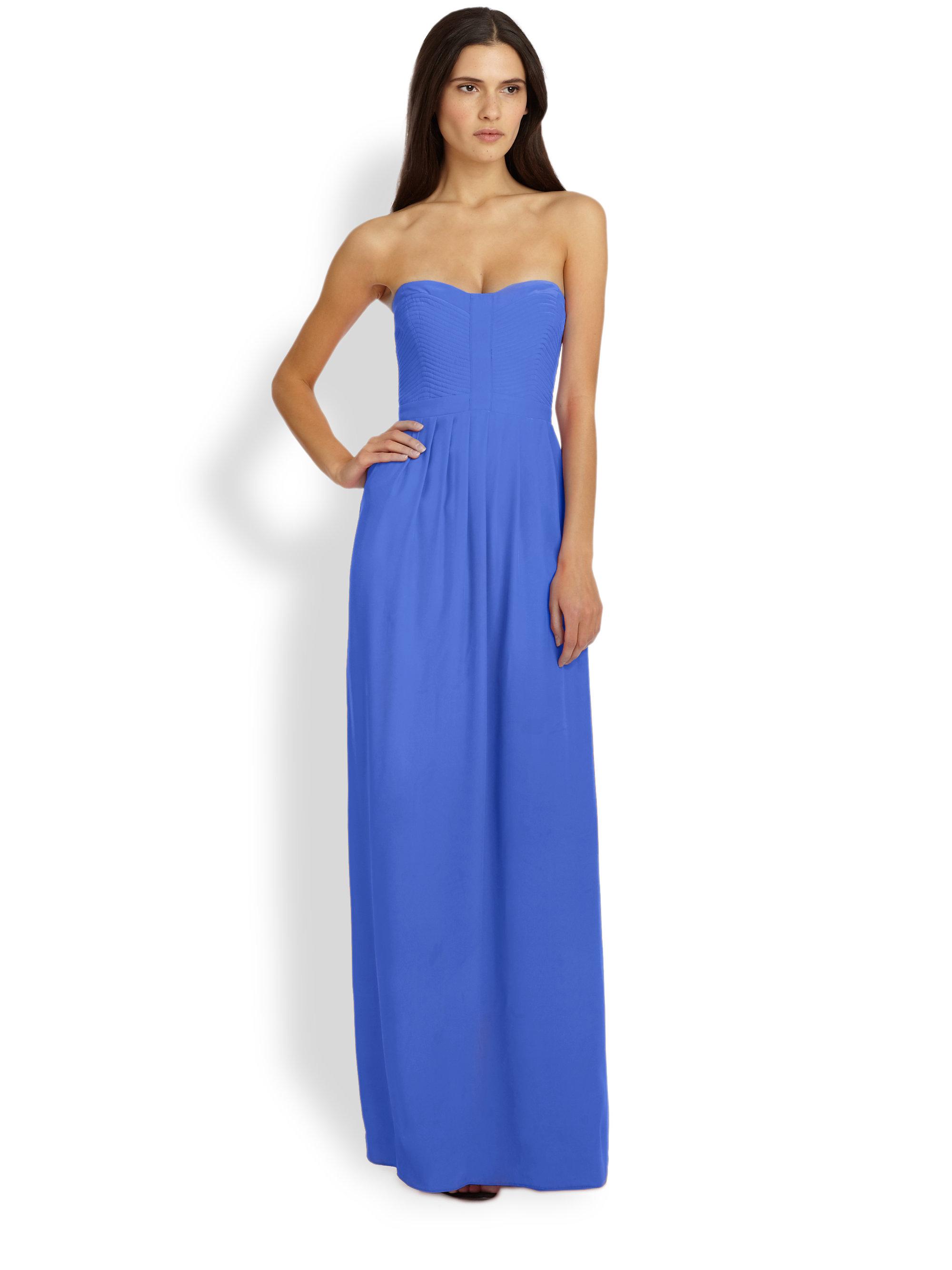 af616d70b80 Parker Bayou Silk Strapless Maxi Dress in Blue - Lyst