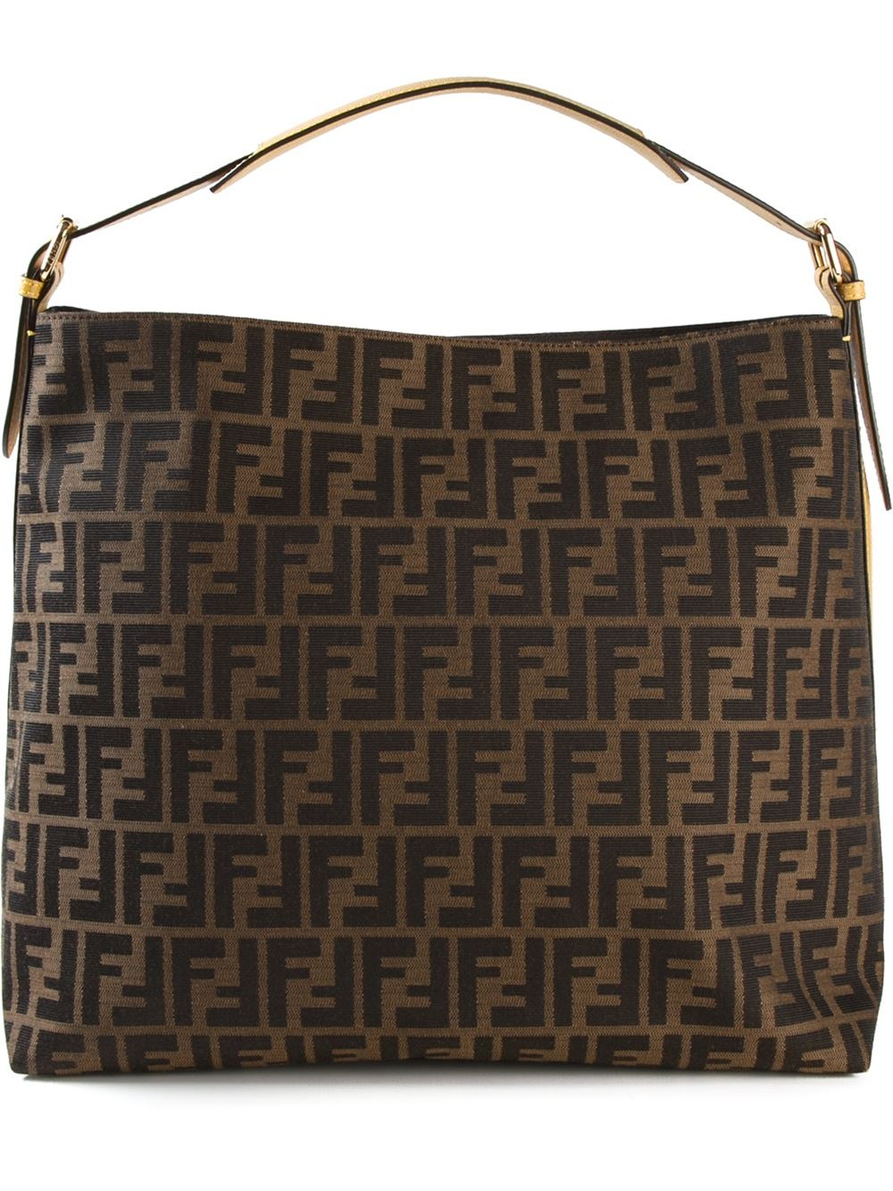 4ef5325dd4e ... ireland lyst fendi zucca shoulder bag in brown 12778 5fa6c ...