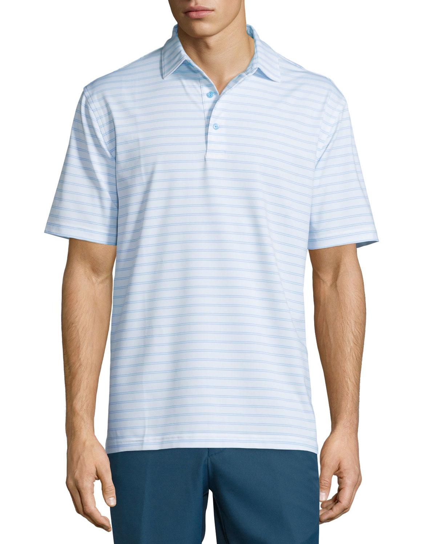 Peter millar rambler striped short sleeve polo shirt in for Peter millar polo shirts