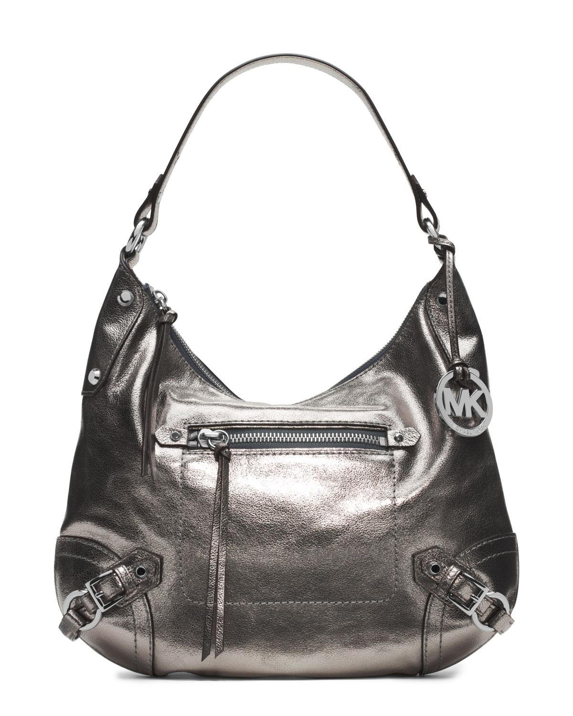 af3f9c47b9ba Lyst - Michael Kors Michael Large Fallon Hobo Shoulder Bag in Gray
