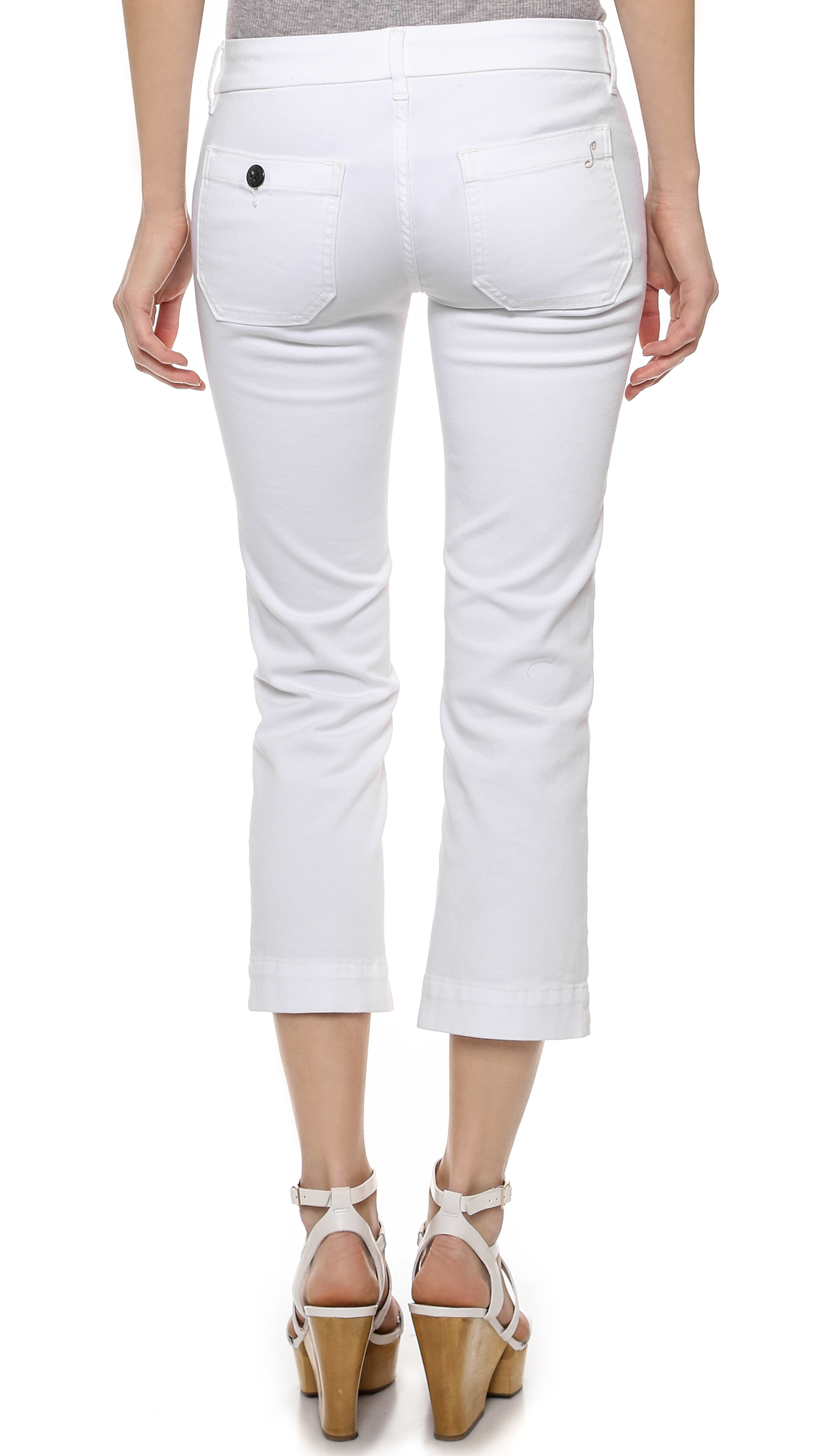 The Seafarer Denim Lord Jim New Cropped Jeans - White
