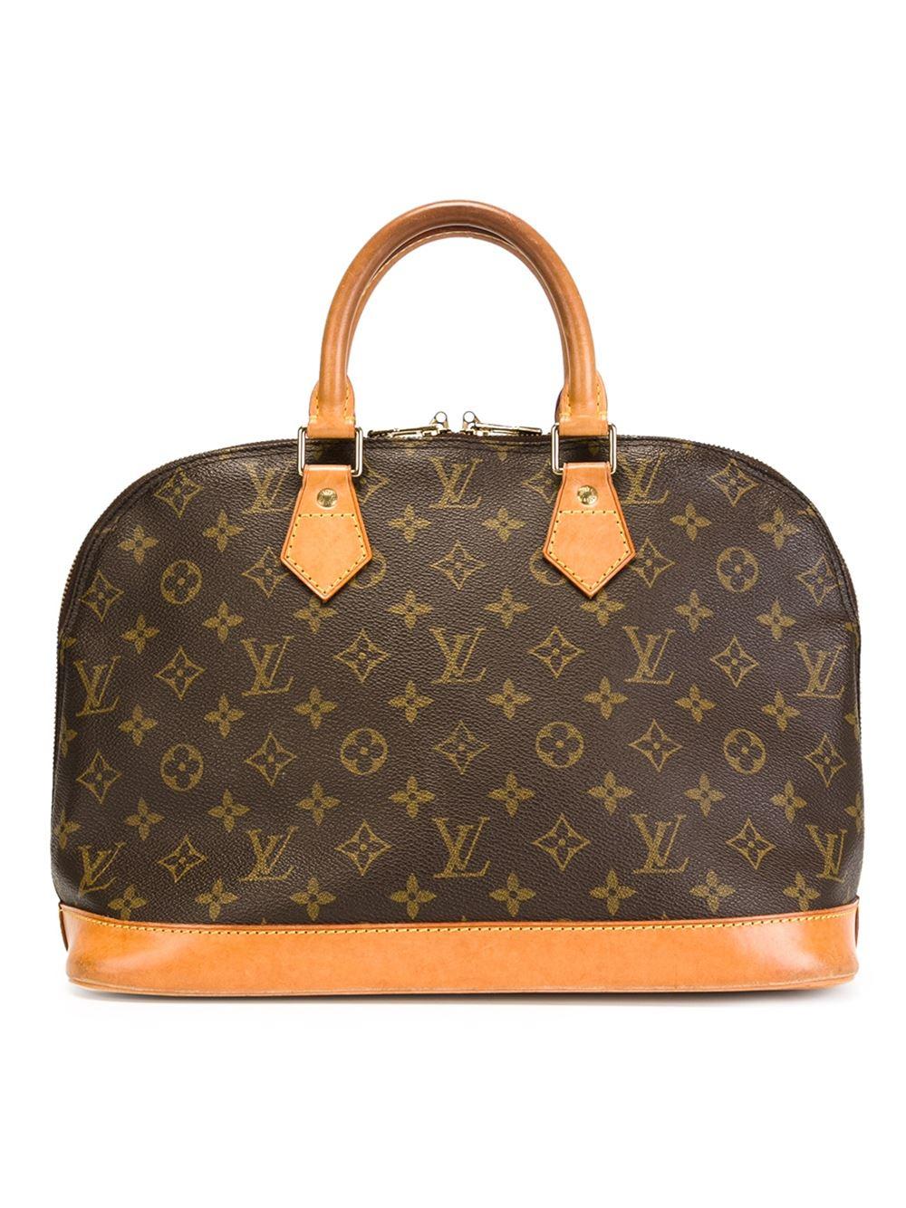 Louis vuitton 39 alma 39 medium bag in brown lyst for Louis vuitton miroir alma bag