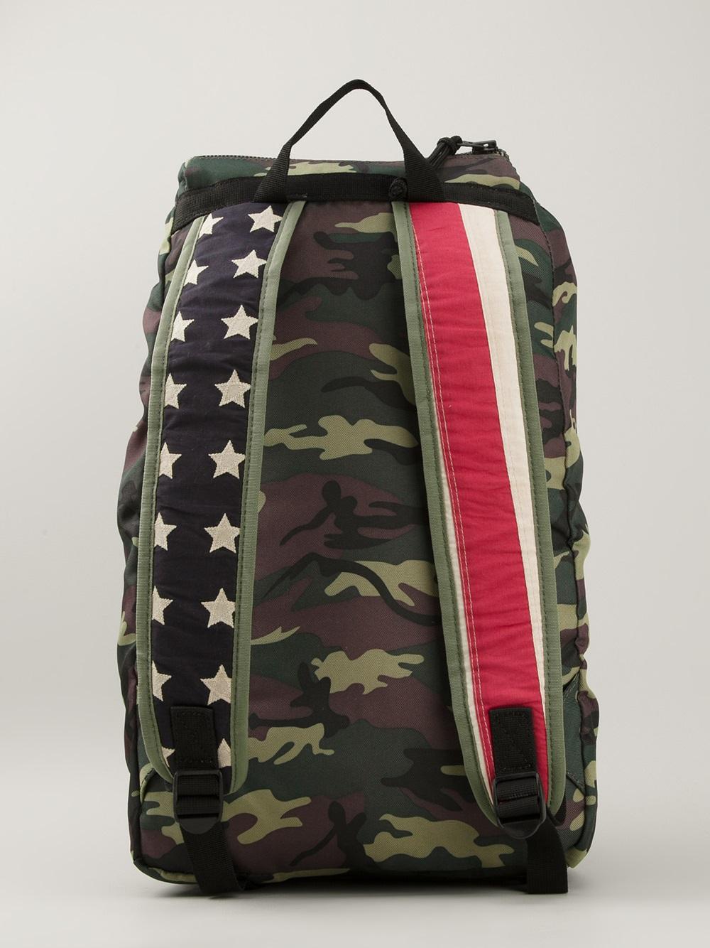 Lyst - Ralph Lauren Camouflage Backpack in Green for Men 3cbb32e64b00f