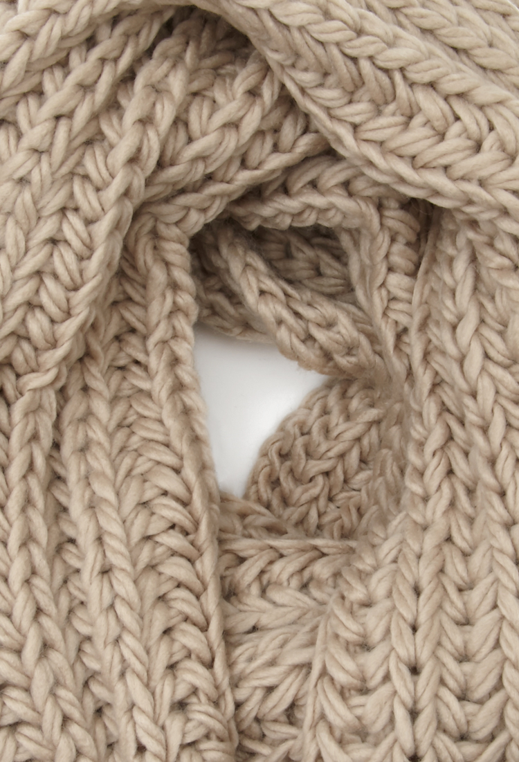 Lyst - Forever 21 Chunky Knit Infinity Scarf in Natural