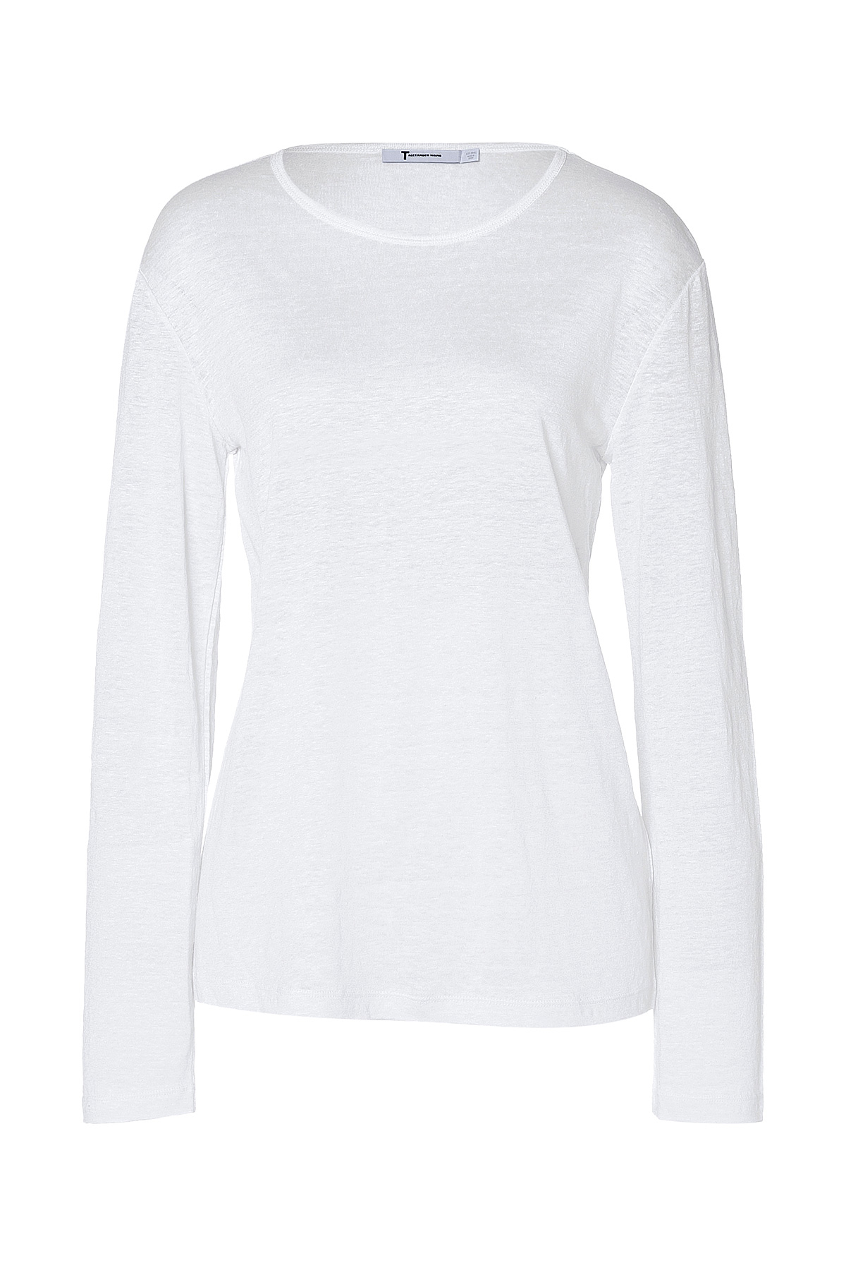 Lyst t by alexander wang linen silk long sleeve t shirt for Silk long sleeve shirt