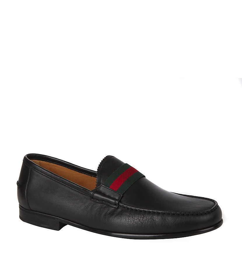 86fc8949706 Gucci Frederic Web Detail Loafer in Black for Men - Lyst