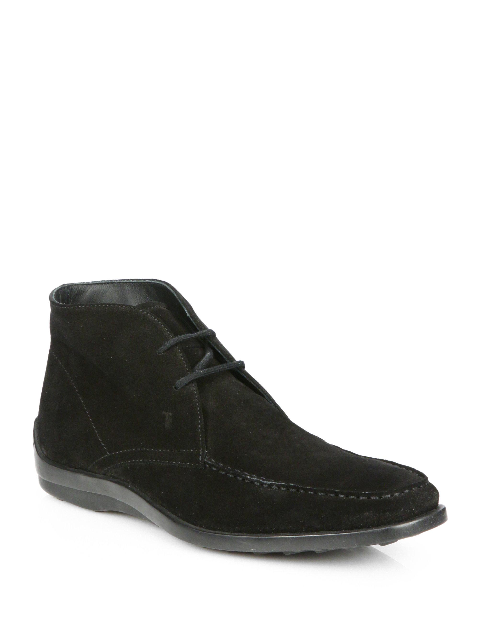 tod 39 s quinn desert boots in black for men lyst. Black Bedroom Furniture Sets. Home Design Ideas