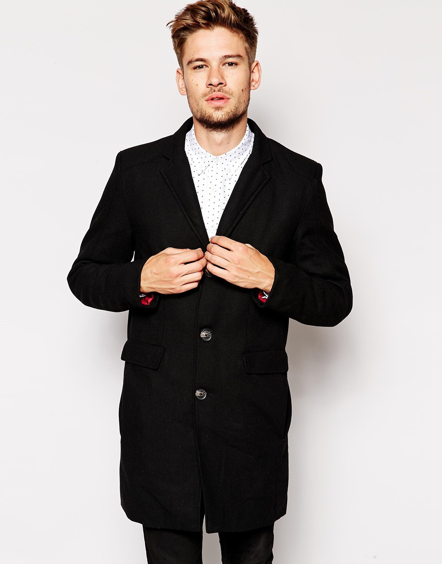 Selected Selected Wool Coat With Detachable Lining in Black for ...