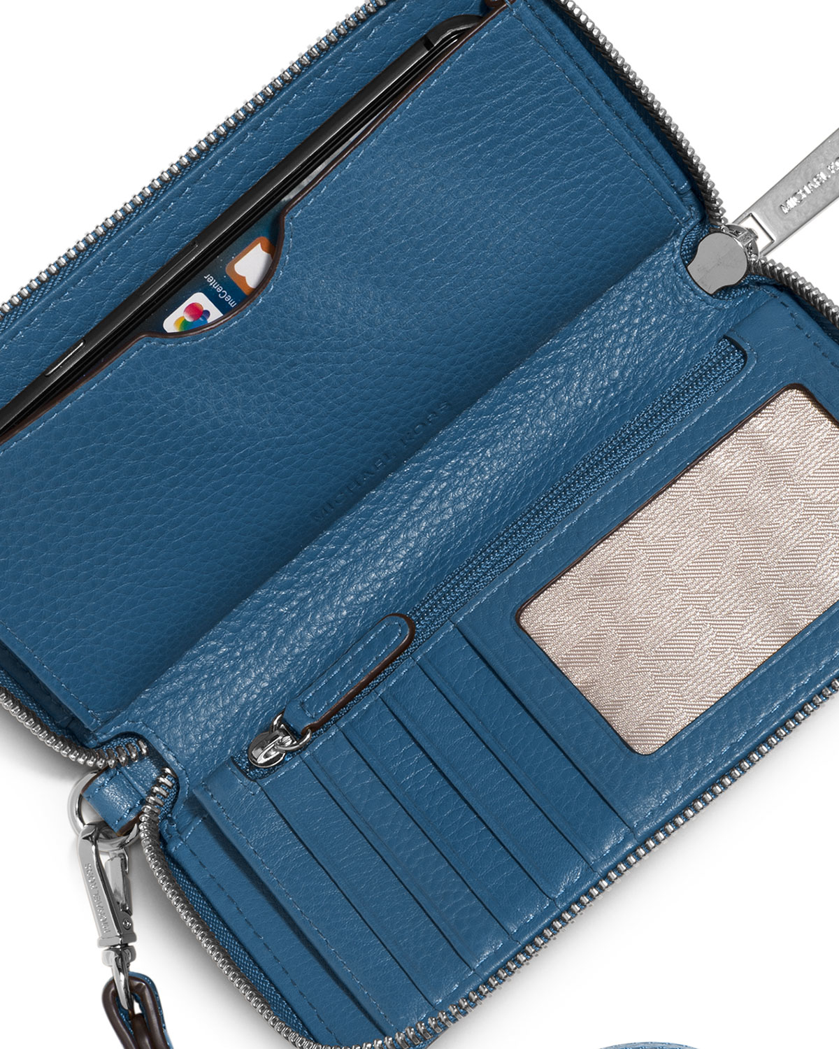 quality design 21dcb ff660 MICHAEL Michael Kors Blue Fulton Large Flat Multifunction Phone Wallet